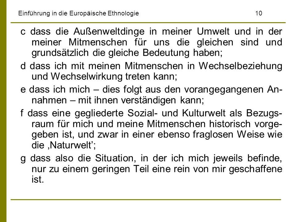 Einführung in die Europäische Ethnologie 10