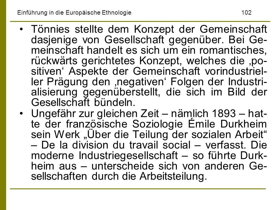 Einführung in die Europäische Ethnologie 102