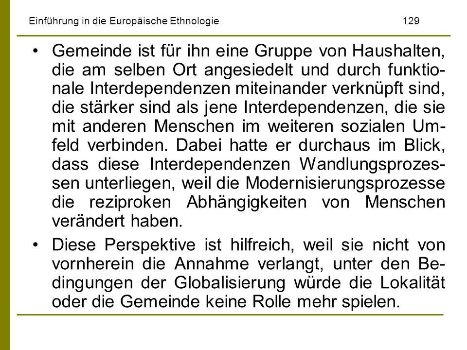 Einführung in die Europäische Ethnologie 129