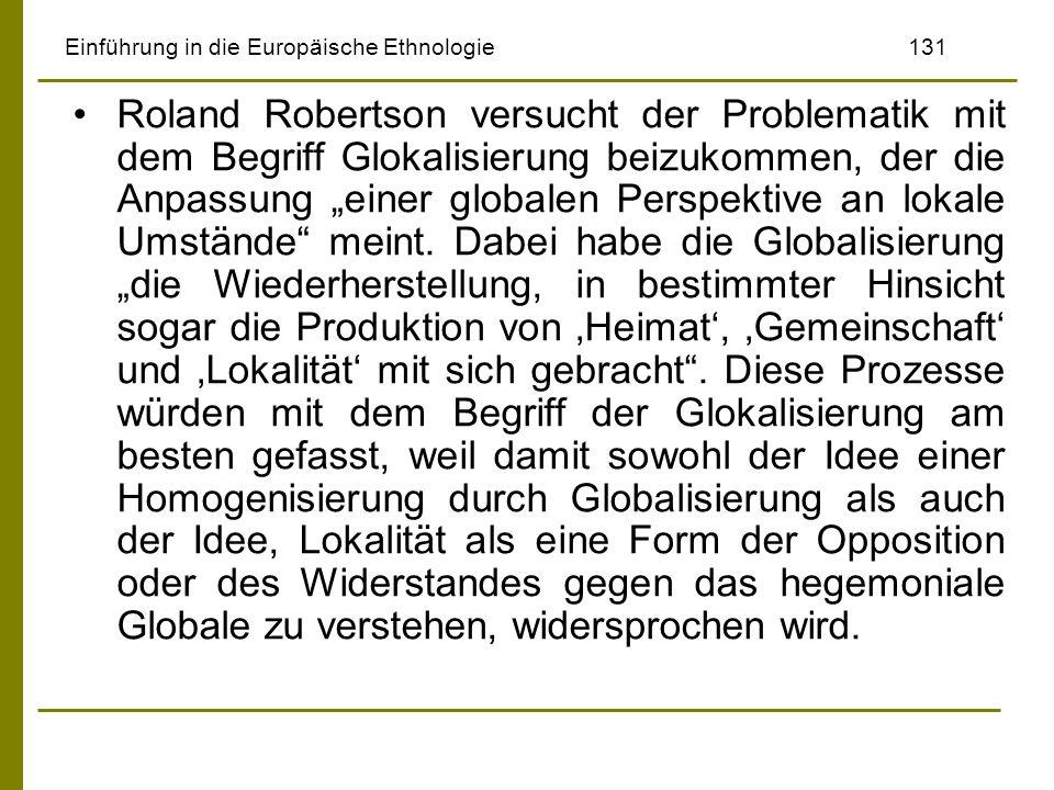 Einführung in die Europäische Ethnologie 131