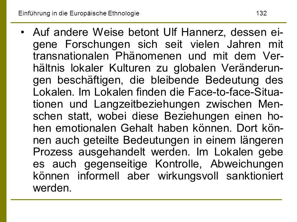 Einführung in die Europäische Ethnologie 132