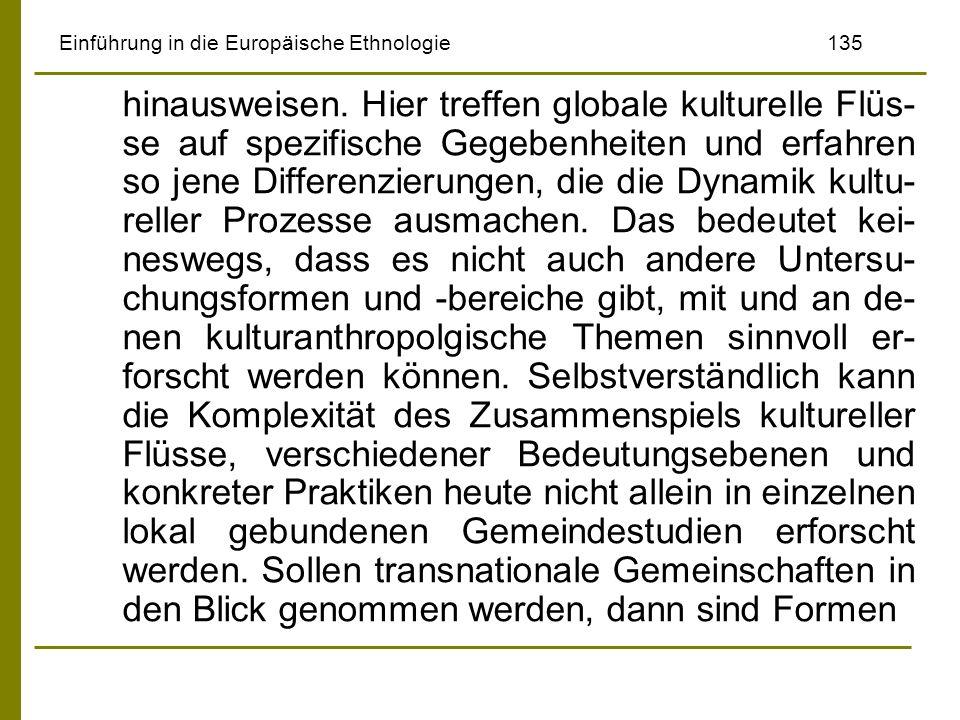 Einführung in die Europäische Ethnologie 135