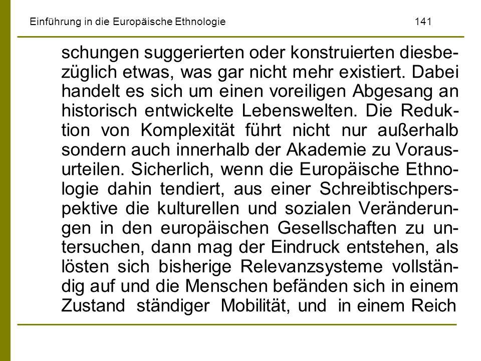 Einführung in die Europäische Ethnologie 141