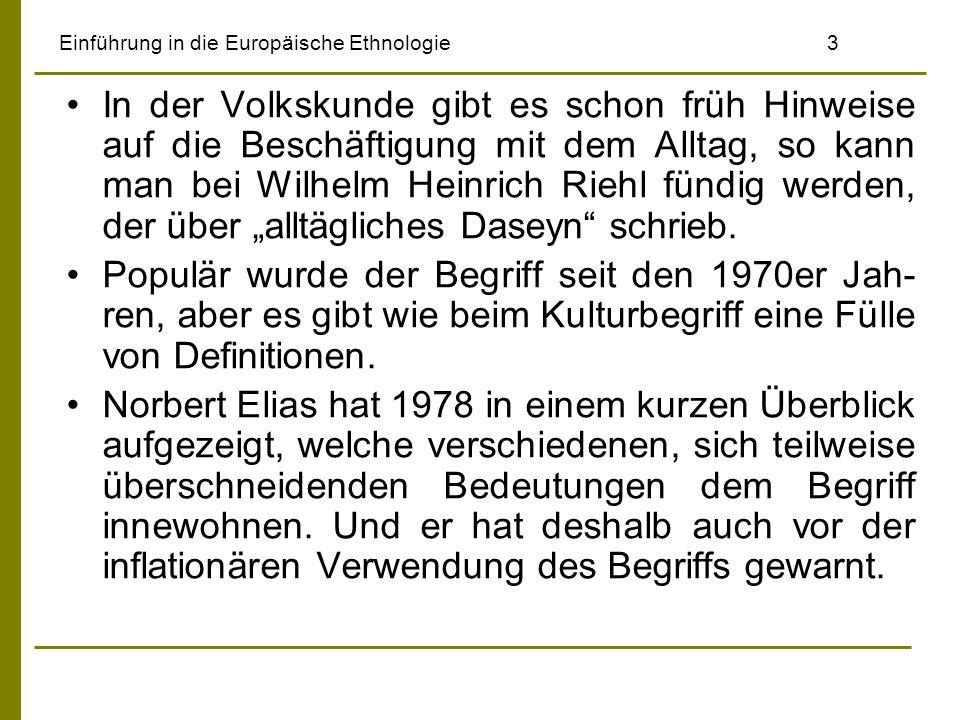 Einführung in die Europäische Ethnologie 3