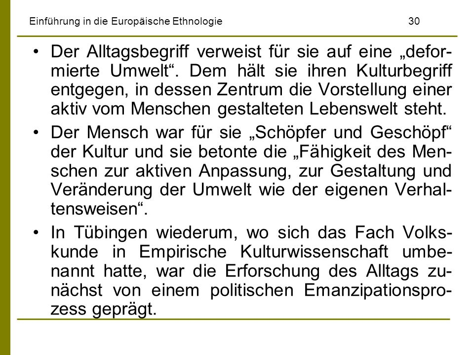 Einführung in die Europäische Ethnologie 30