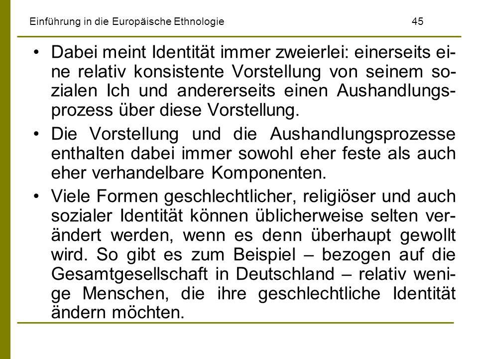 Einführung in die Europäische Ethnologie 45