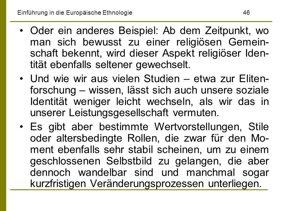 Einführung in die Europäische Ethnologie 46