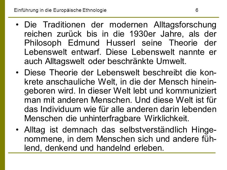 Einführung in die Europäische Ethnologie 6