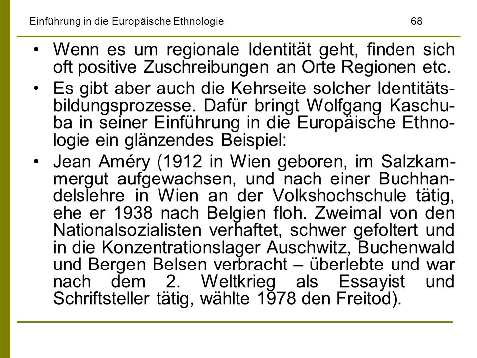 Einführung in die Europäische Ethnologie 68