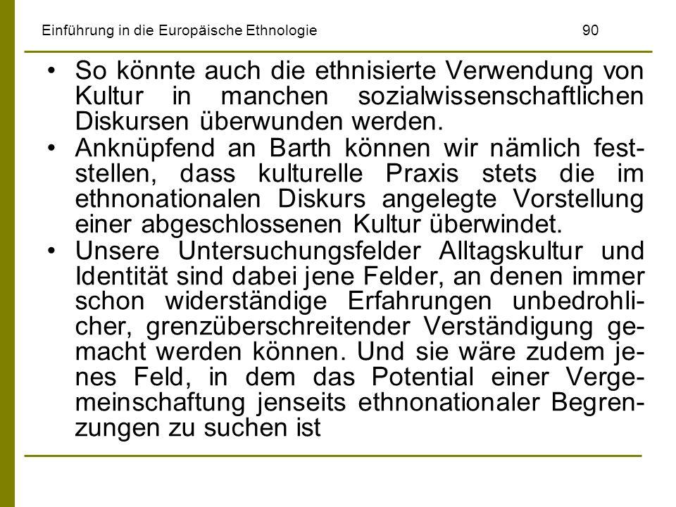Einführung in die Europäische Ethnologie 90