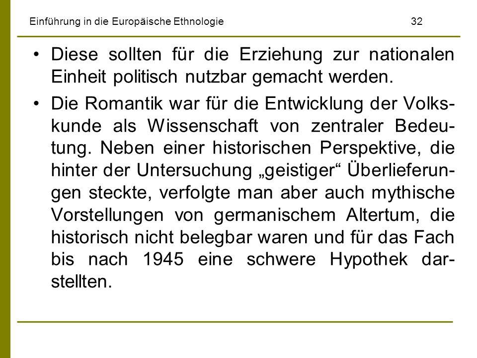 Einführung in die Europäische Ethnologie 32