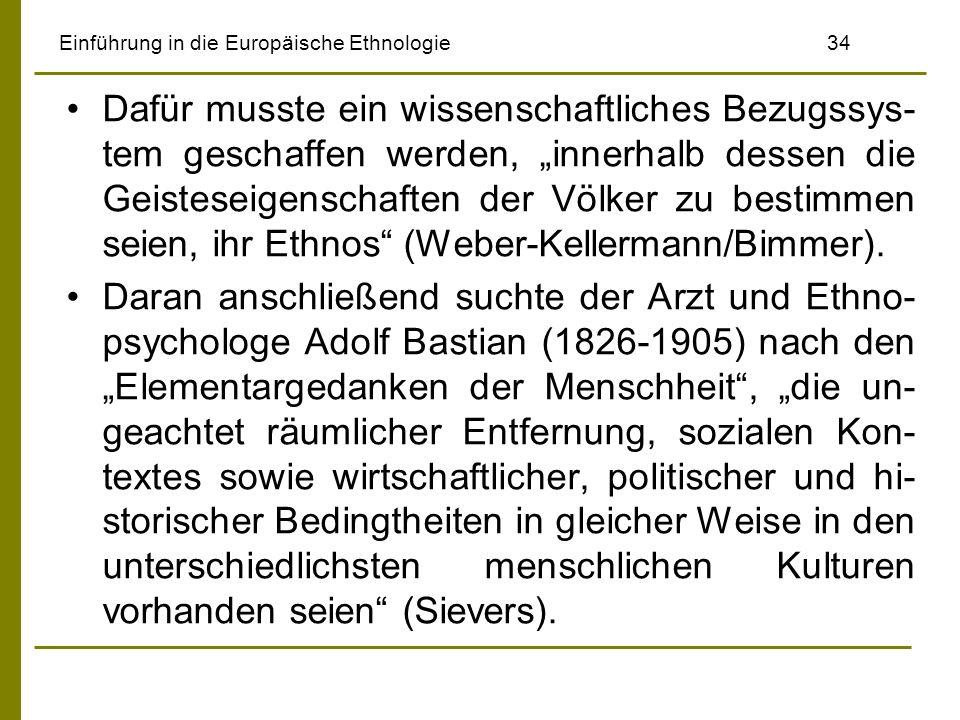 Einführung in die Europäische Ethnologie 34