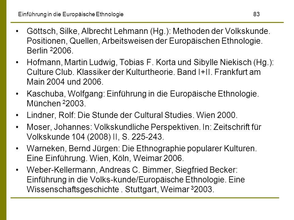 Einführung in die Europäische Ethnologie 83