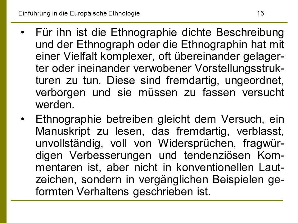 Einführung in die Europäische Ethnologie 15