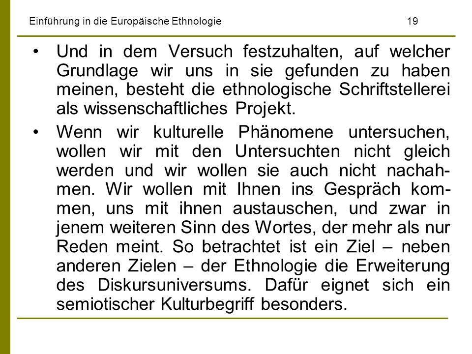 Einführung in die Europäische Ethnologie 19