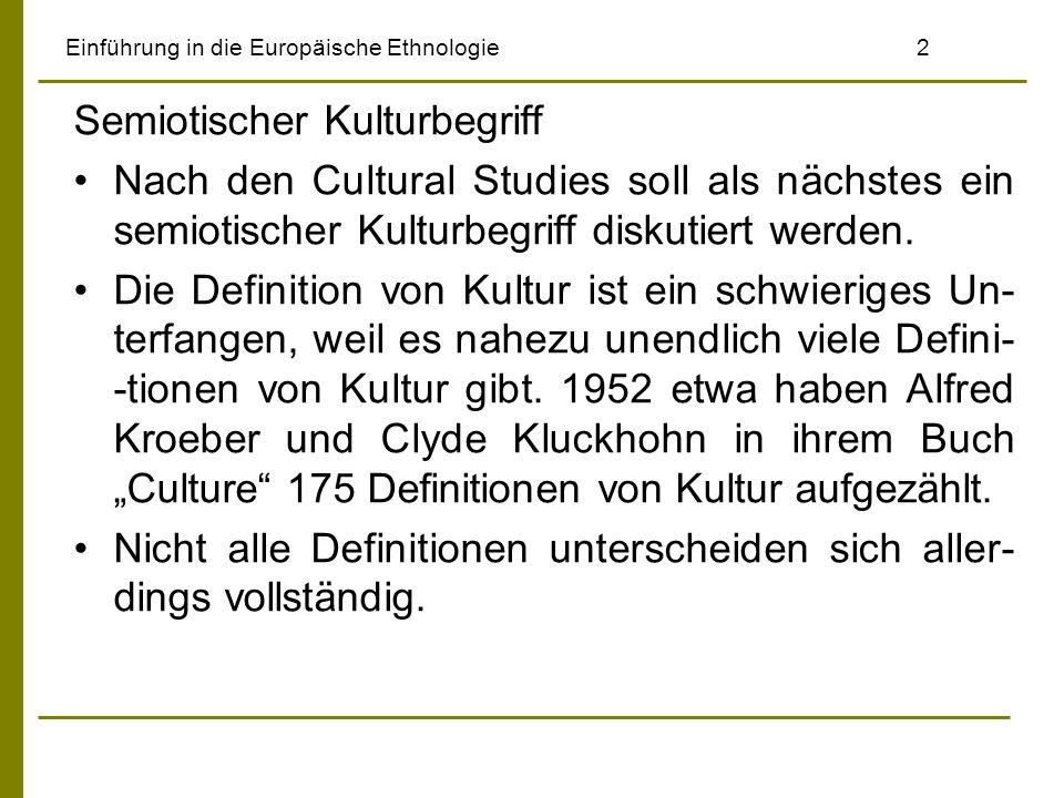 Einführung in die Europäische Ethnologie 2