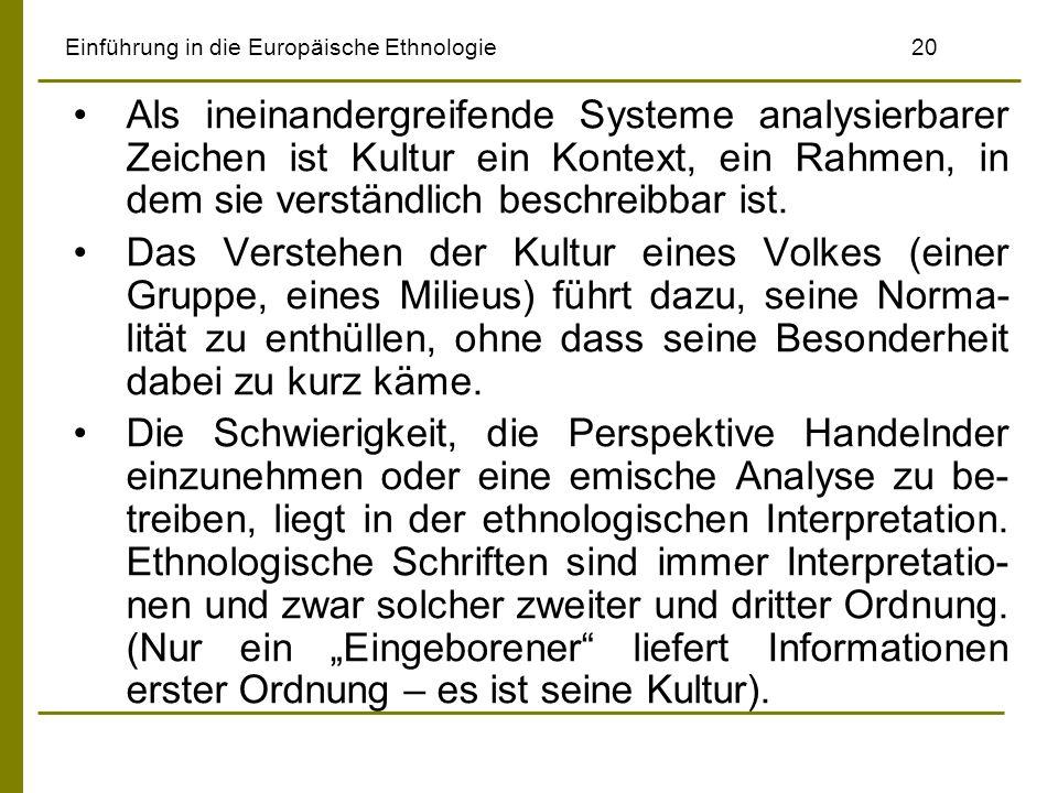Einführung in die Europäische Ethnologie 20