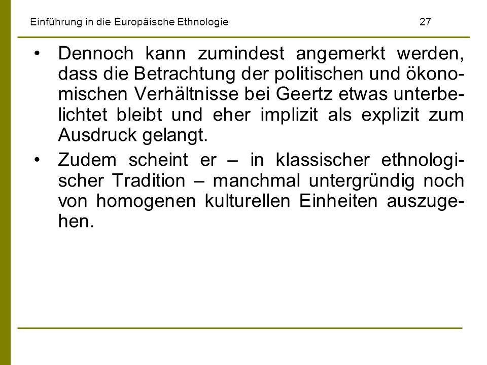 Einführung in die Europäische Ethnologie 27