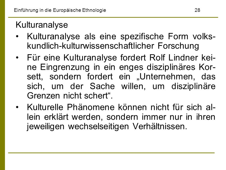 Einführung in die Europäische Ethnologie 28