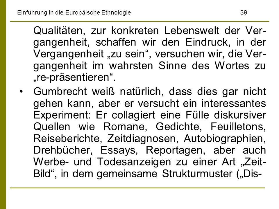 Einführung in die Europäische Ethnologie 39