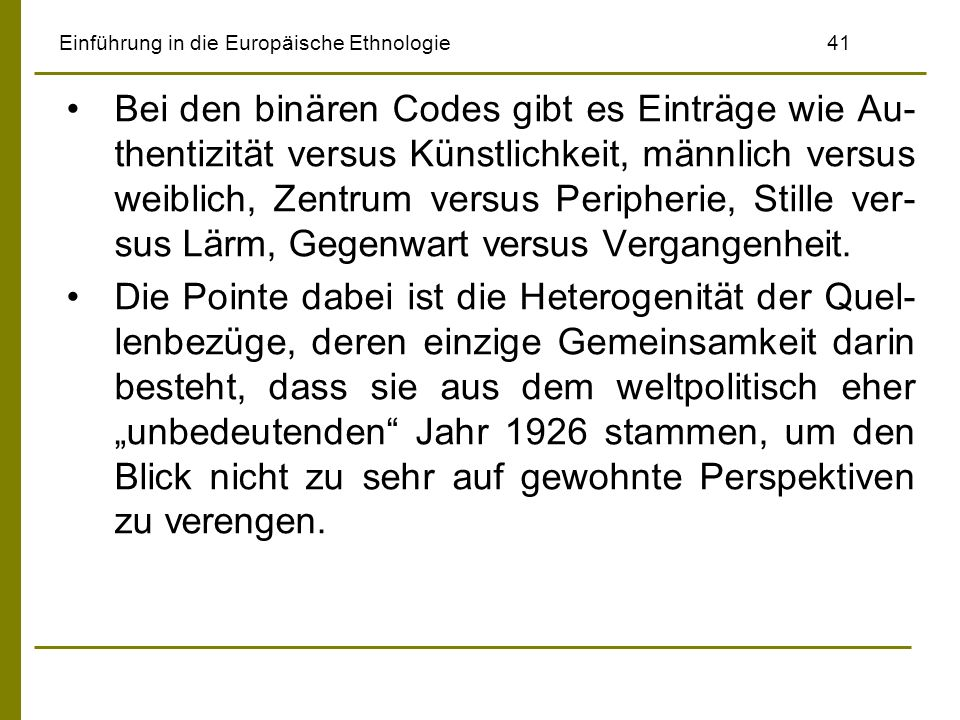 Einführung in die Europäische Ethnologie 41