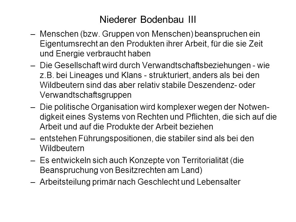 Niederer Bodenbau III