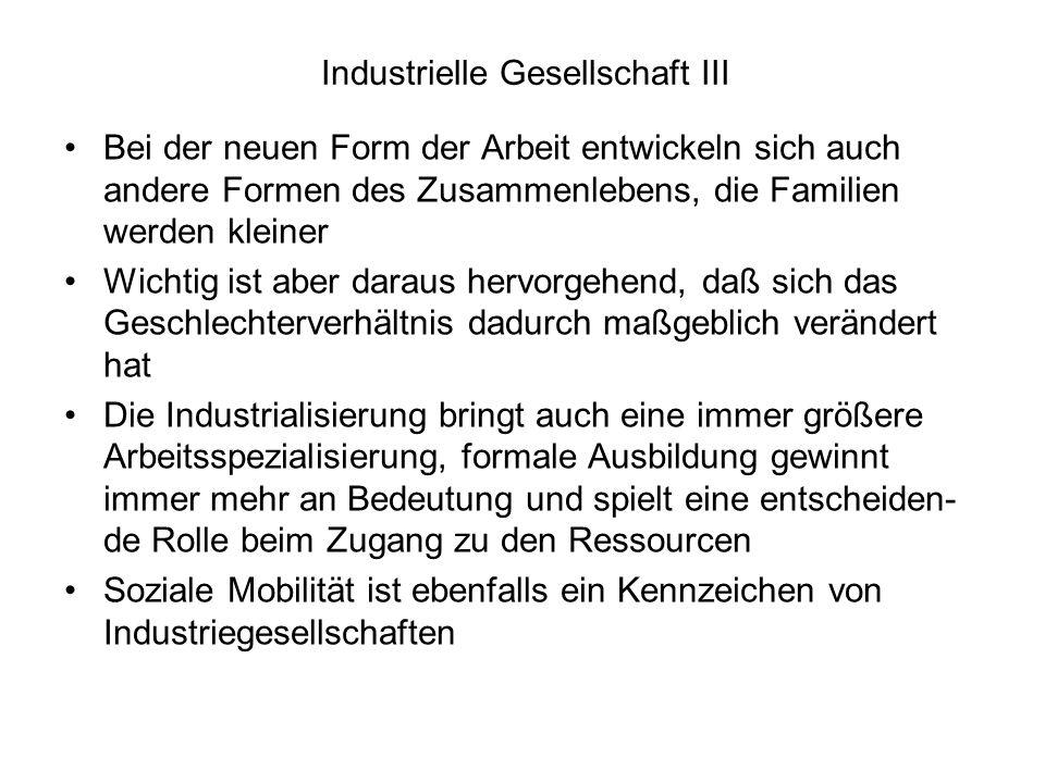 Industrielle Gesellschaft III