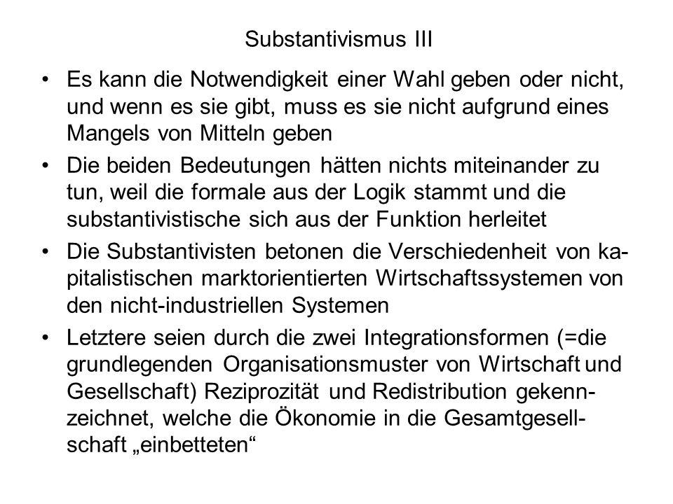 Substantivismus III