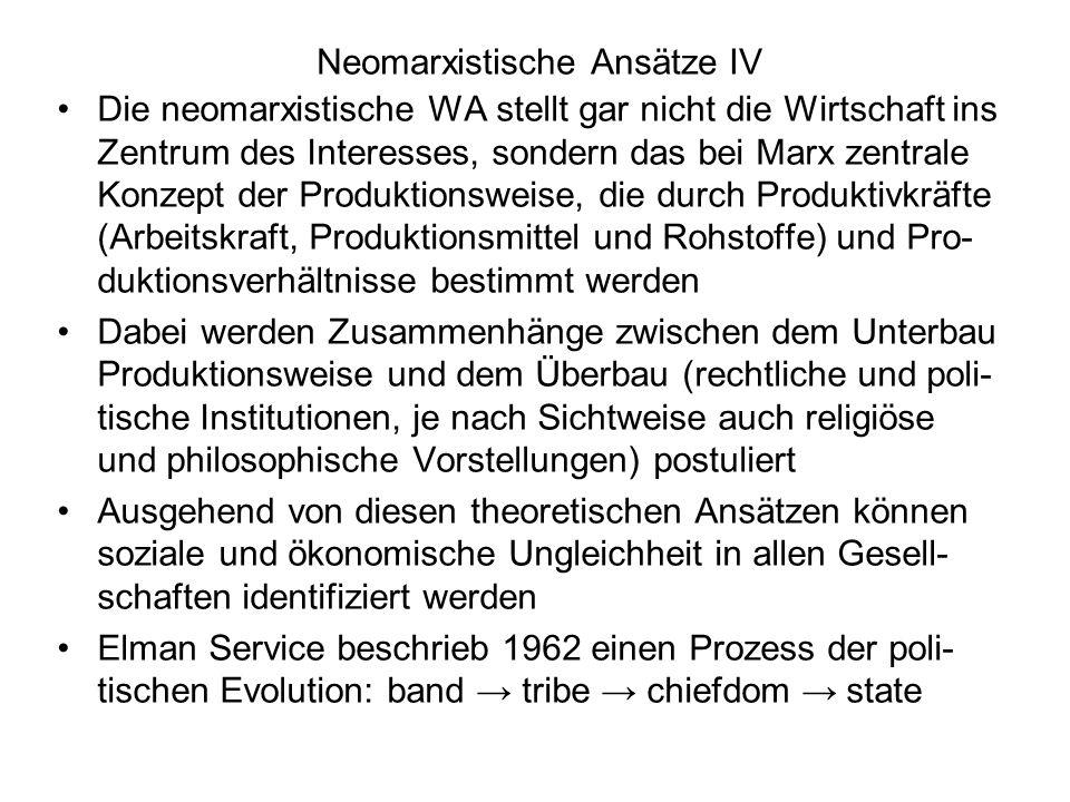 Neomarxistische Ansätze IV