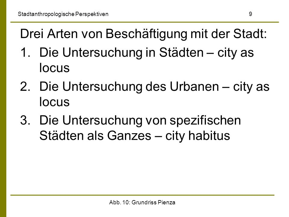 Stadtanthropologische Perspektiven 9