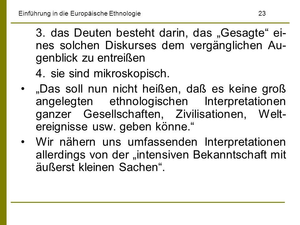 Einführung in die Europäische Ethnologie 23