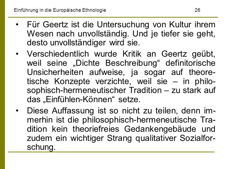 Einführung in die Europäische Ethnologie 26