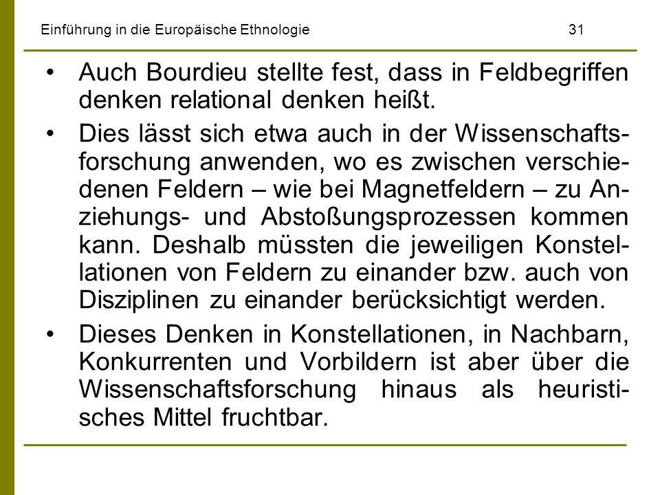 Einführung in die Europäische Ethnologie 31