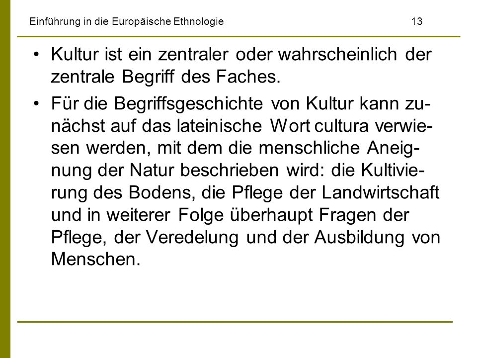 Einführung in die Europäische Ethnologie 13