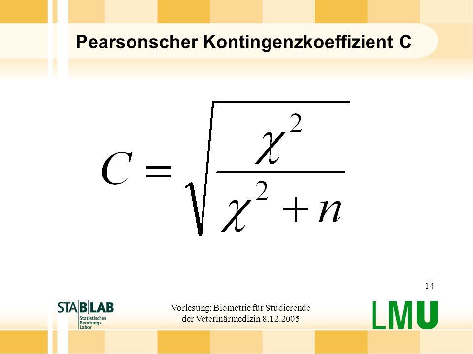 Pearsonscher Kontingenzkoeffizient C