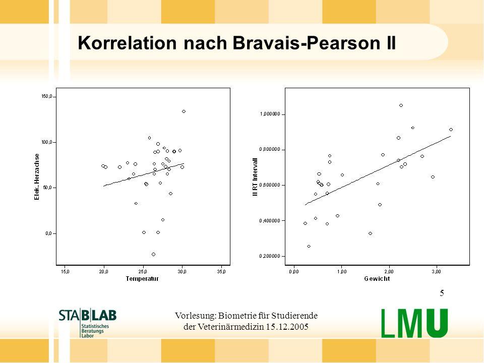 Korrelation nach Bravais-Pearson II