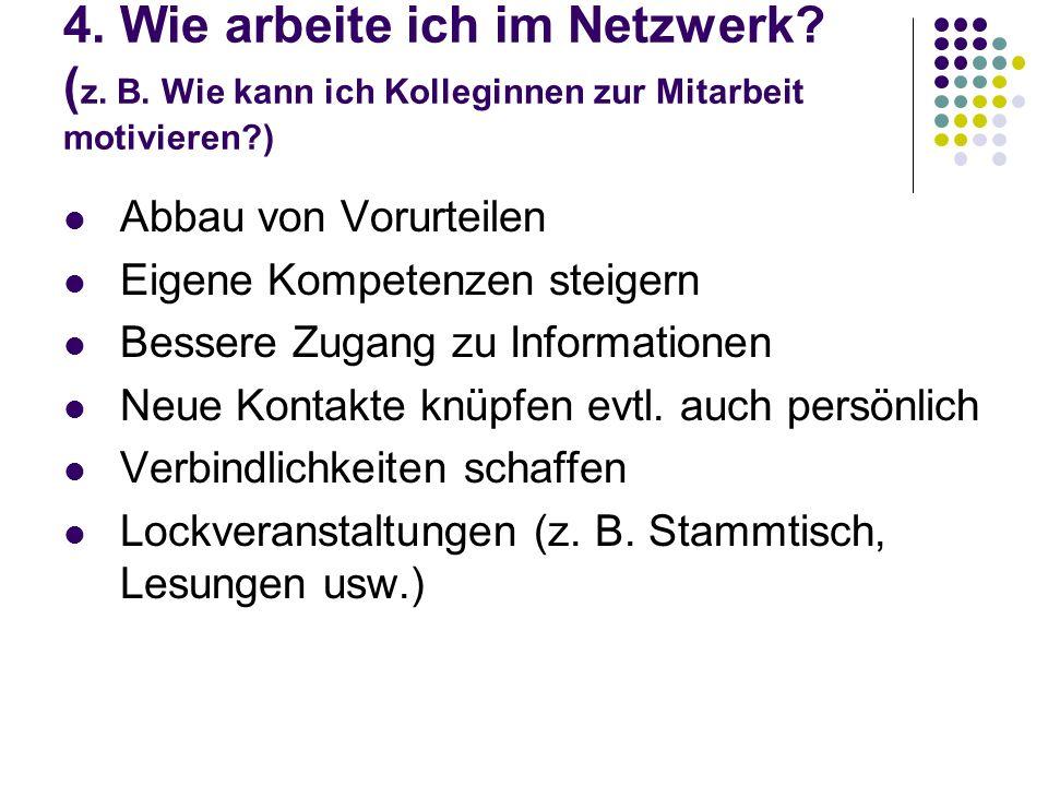 4. Wie arbeite ich im Netzwerk. (z. B