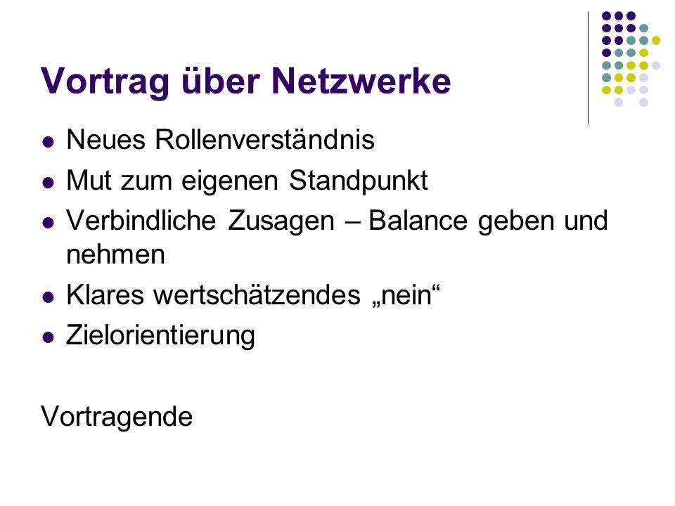 Vortrag über Netzwerke