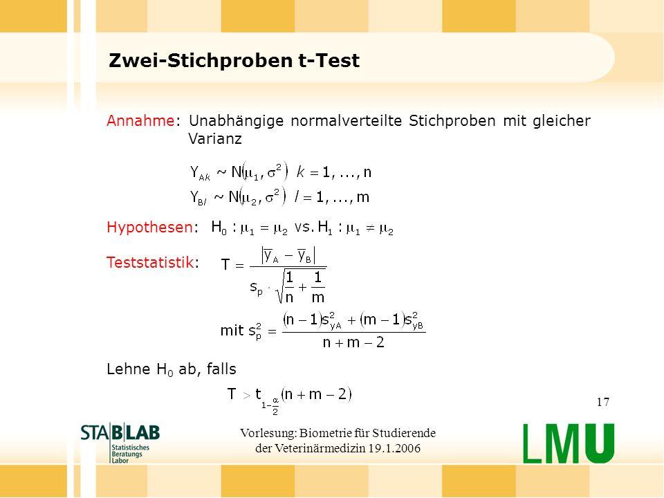 Zwei-Stichproben t-Test