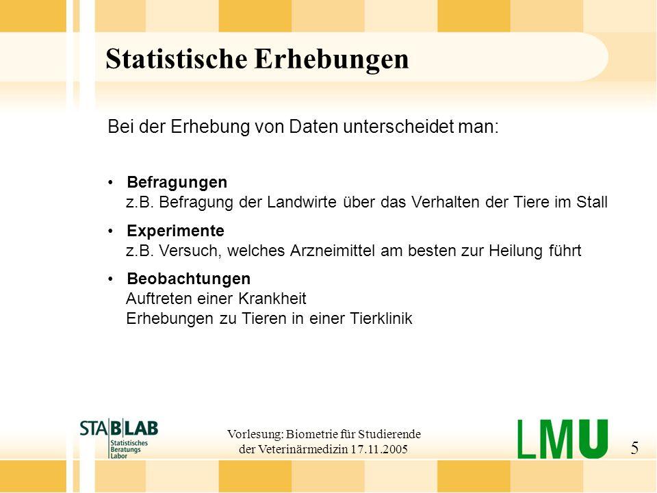 Statistische Erhebungen