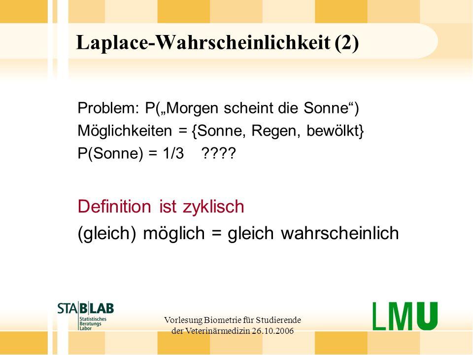 Laplace-Wahrscheinlichkeit (2)