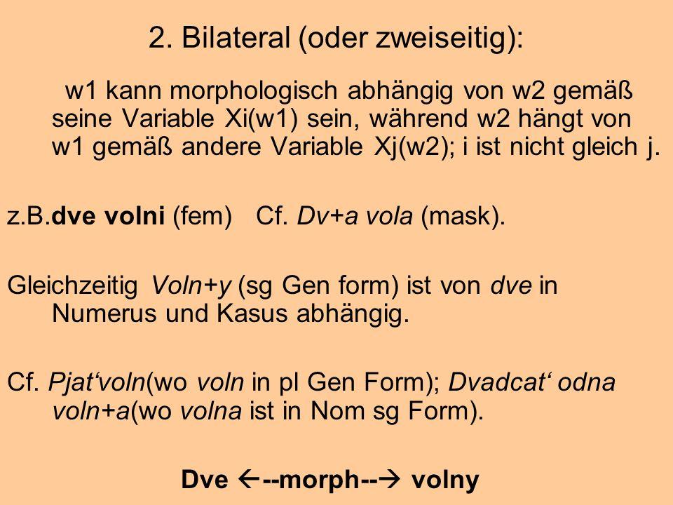 2. Bilateral (oder zweiseitig):