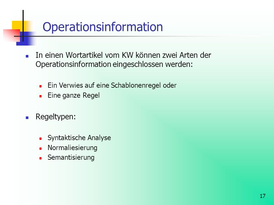 Operationsinformation