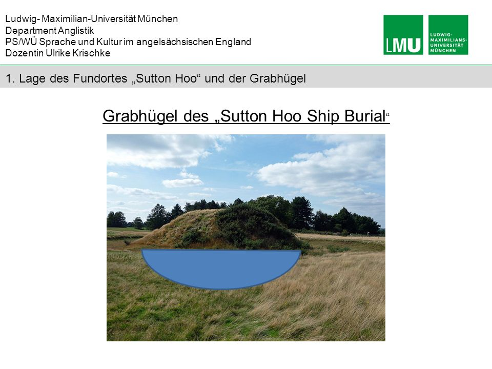 "Grabhügel des ""Sutton Hoo Ship Burial"