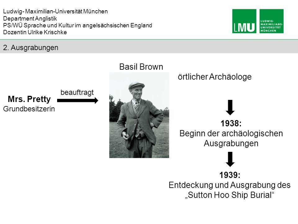 Beginn der archäologischen Ausgrabungen