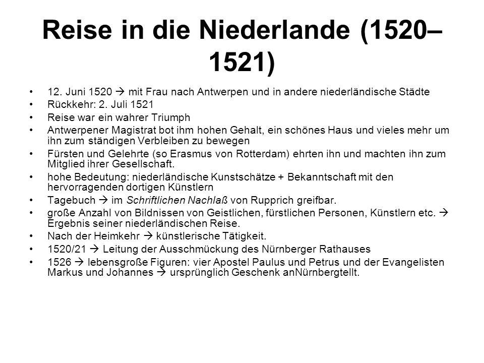 Reise in die Niederlande (1520–1521)
