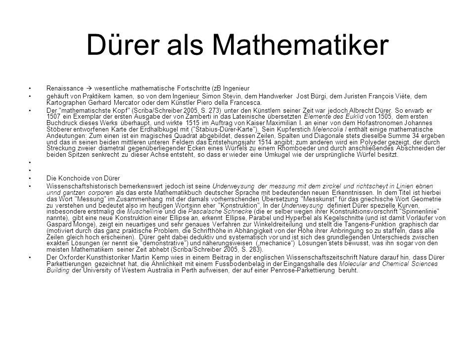 Dürer als Mathematiker