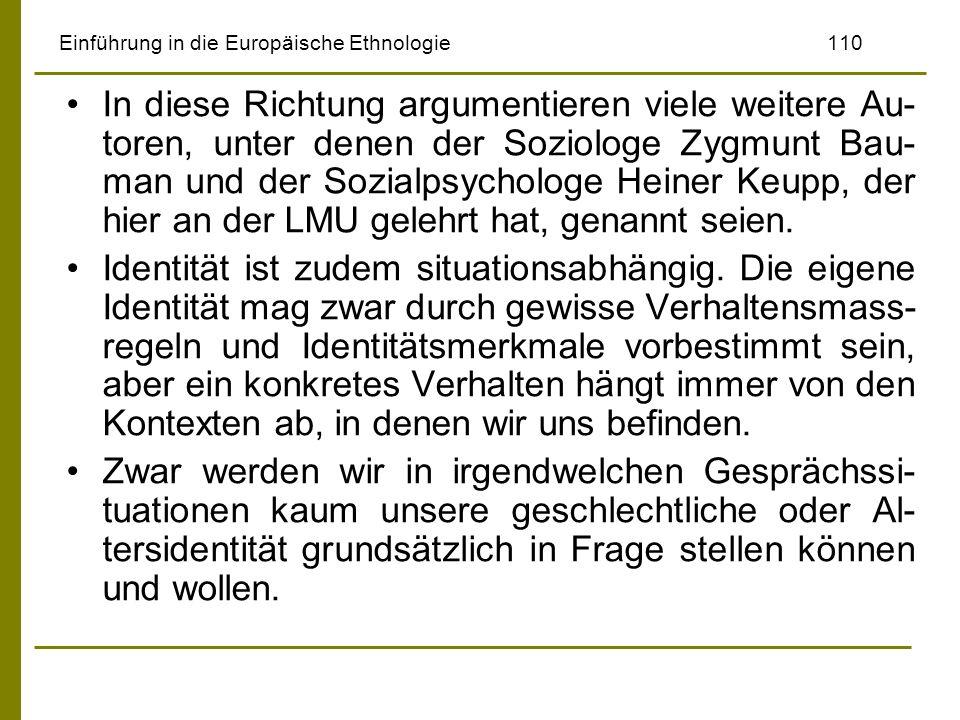 Einführung in die Europäische Ethnologie 110