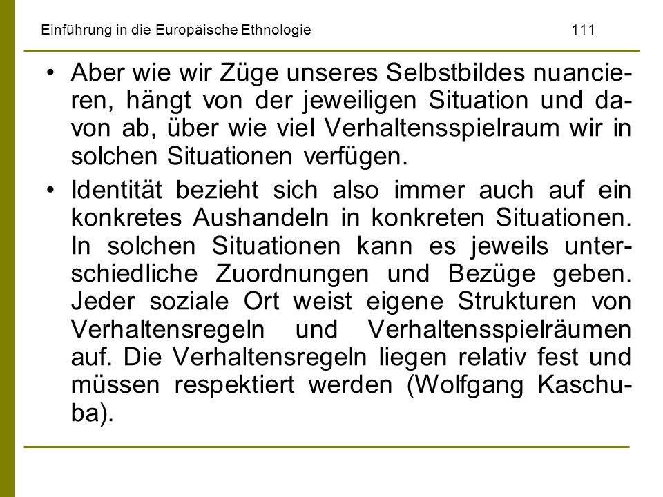 Einführung in die Europäische Ethnologie 111