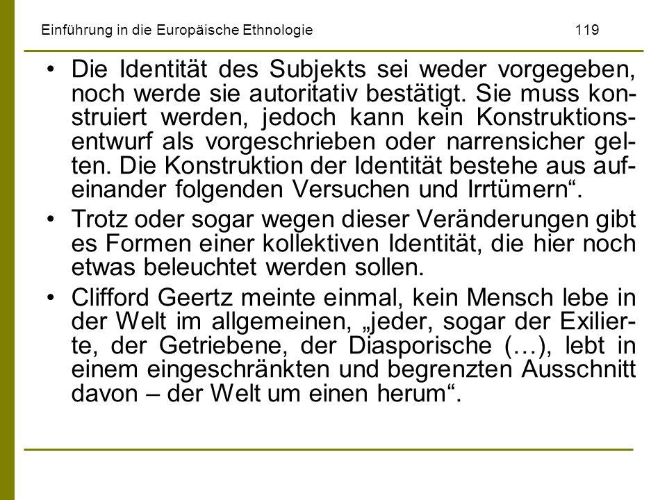 Einführung in die Europäische Ethnologie 119